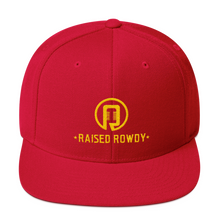Load image into Gallery viewer, Raised Rowdy Flat Brim Snapback Hat