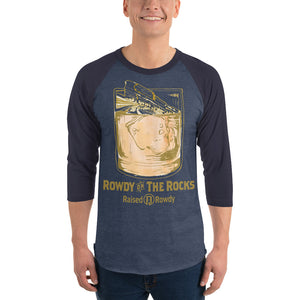 Rowdy on the Rocks 3/4 sleeve raglan shirt
