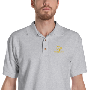 Raised Rowdy Logo Embroidered Polo Shirt