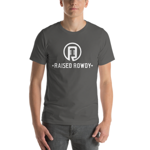 Raised Rowdy White logo Short-Sleeve Unisex T-Shirt