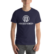 Load image into Gallery viewer, Raised Rowdy White logo Short-Sleeve Unisex T-Shirt