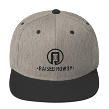 Load image into Gallery viewer, Black Logo Flat Brim Snapback Hat