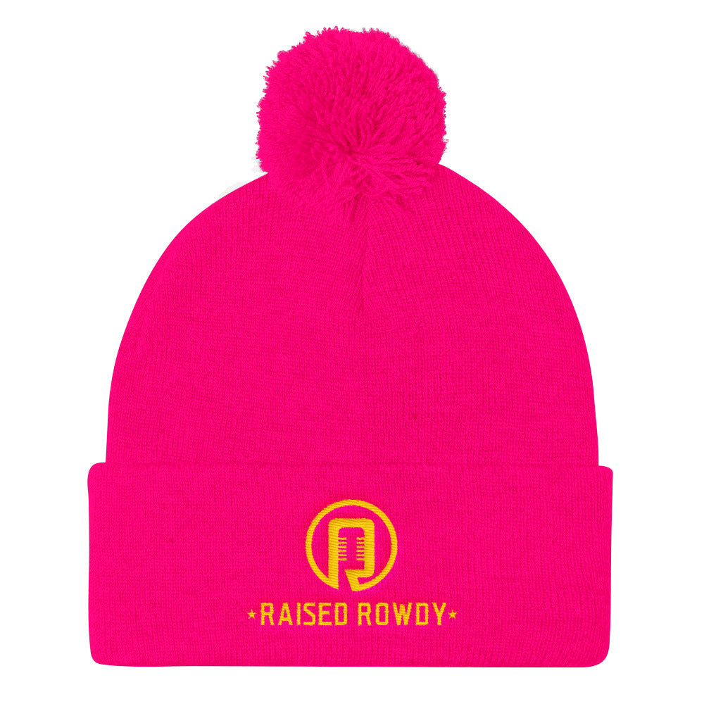 Raised Rowdy Pom Pom Knit Cap