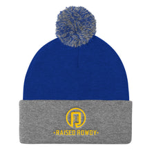 Load image into Gallery viewer, Raised Rowdy Pom Pom Knit Cap