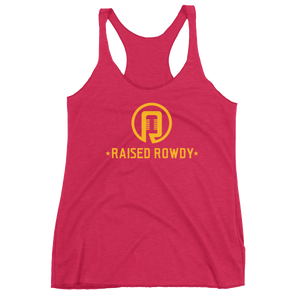 Raised Rowdy Logo Women's Racerback Tank