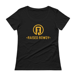 Raised Rowdy Logo Ladies' Scoopneck T-Shirt