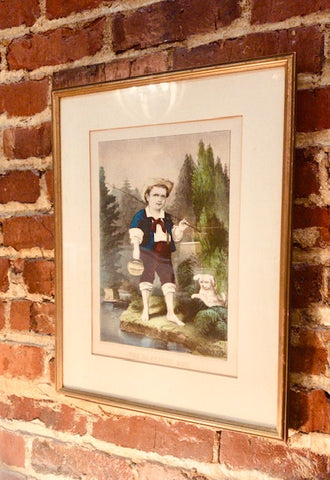 """THE BAREFOOT BOY"" FRAMED PRINT"