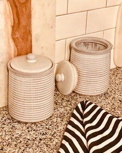 AZARIA POTTERY CANISTER SET