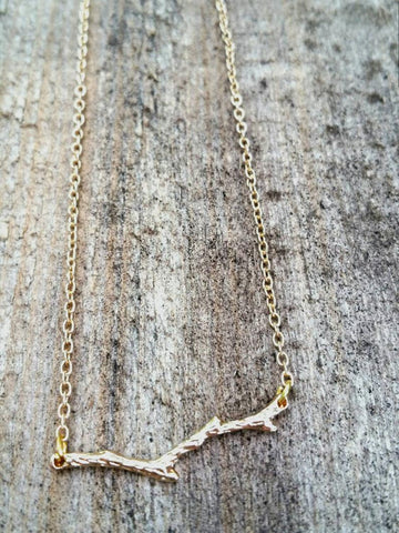 PIPPA LITTLE GOLD TWIG NECKLACE
