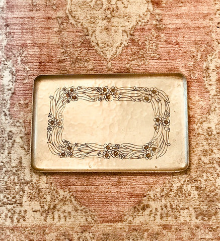 BELLA HAMMERED SILVER TRAY