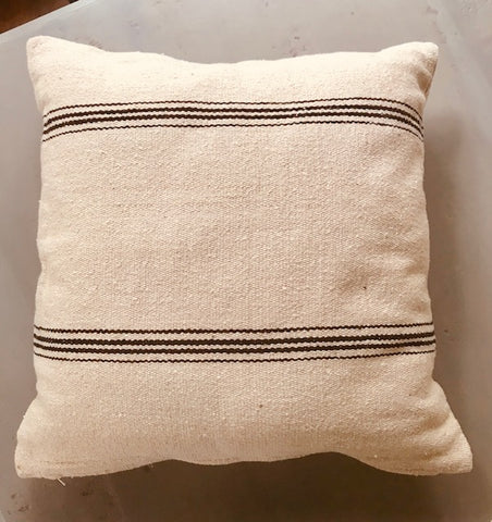 ONYX VINTAGE STRIPE PILLOWS-PAIR