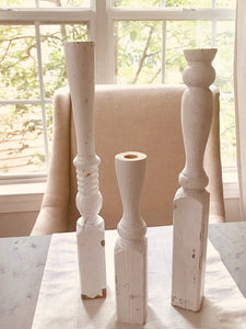 HENLEY CARVED CANDLESTICK SET