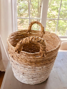 SYLVIE COLOR BLOCK BASKET