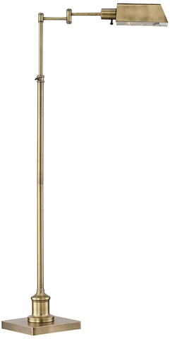 TELLIE ANTIQUE BRASS PHARMACY FLOOR LAMP
