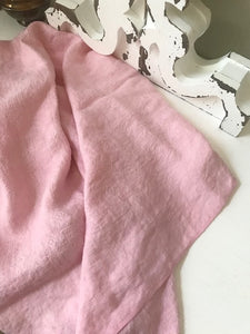 TULIA PINK SQUARE VINTAGE TABLECLOTH