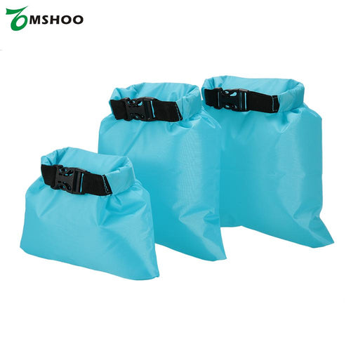 Pack of 3 1L+2L+3L Waterproof Dry Bag Outdoor Portable Ultralight Dry Sacks Camping hiking Backpacking Kayaking traveling