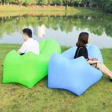 Load image into Gallery viewer, Outdoor Camping Mat Fast Inflatable sofa Lazy Bag Air Sofa Laybag Sleeping Pad Bag Adult Bed Air Lounger Chair Camping Mattress