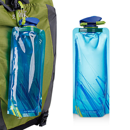 Outdoor Use Foldable Water Bag Sport Hydration Bladder for Riding Climbing Hunting 500ml-1000ml