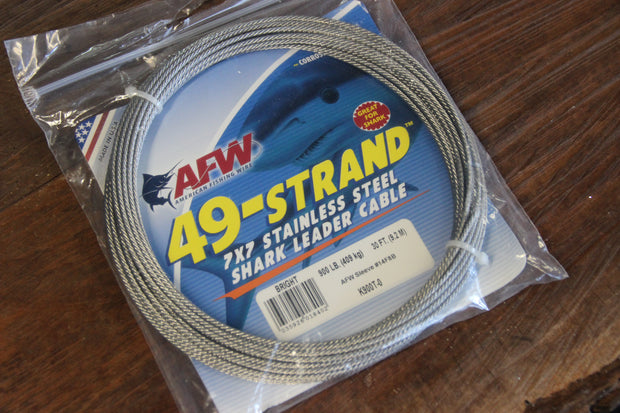 49 strand AFW 275lbs, 30' Wire Leader