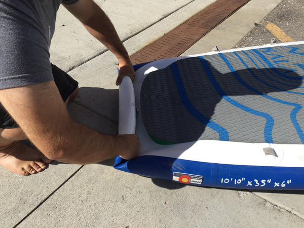 how to roll a sup