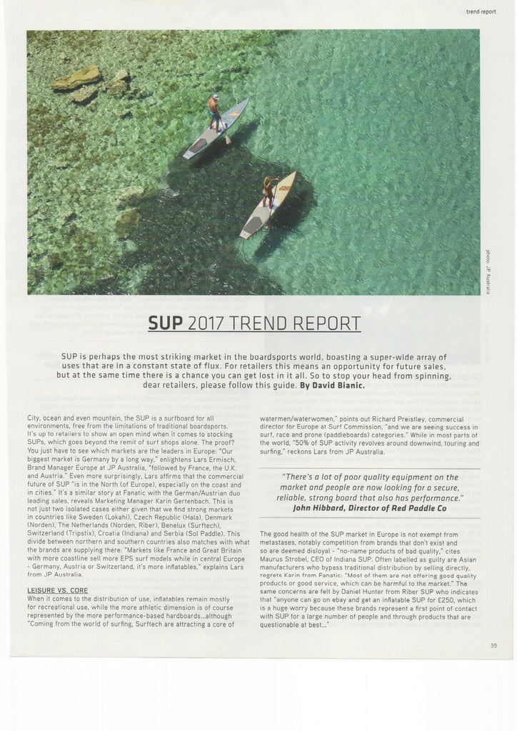 "Boardsport Source: SUP 2017 Trend Report"" - Hala"