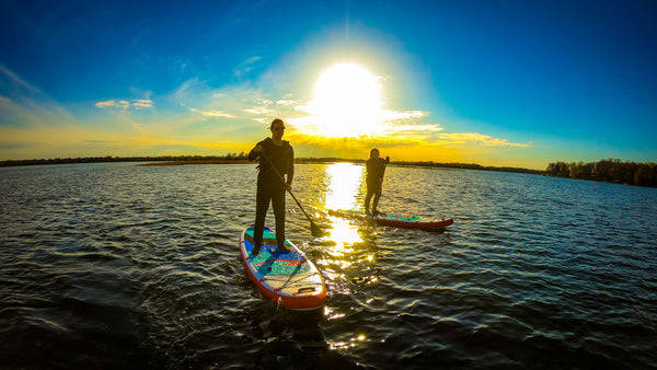 Stand Up Paddle Sunset Lake Two People