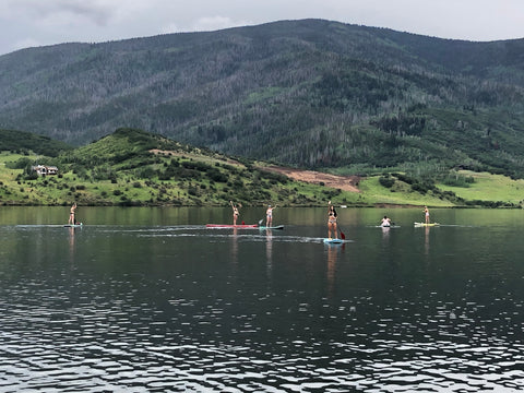 Colorado Lake Friends SUPing