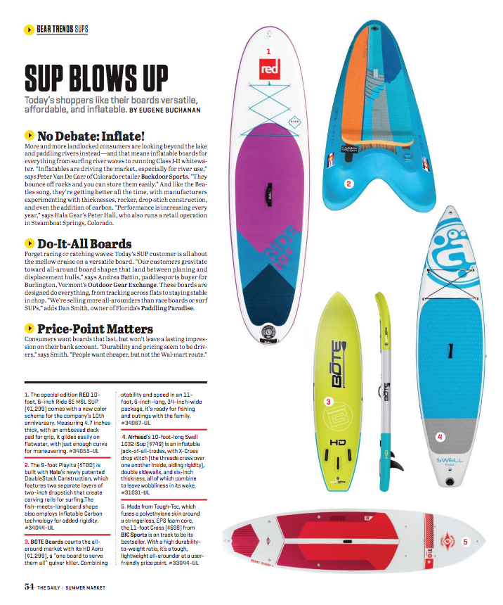 Hala Gear Outdoor Retailer SUP