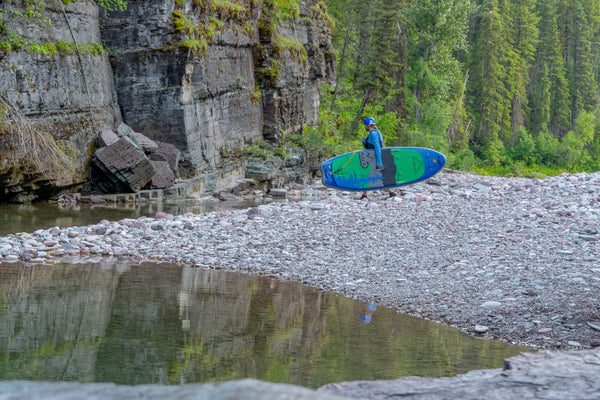 carrying sup river montana paddleboard