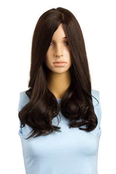 18'' Wavy Brunette Famous Maker Wig 1839/NO TAG