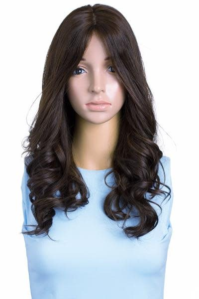 20'' Wavy Brunette Famous Maker Wig 1844/NO TAG