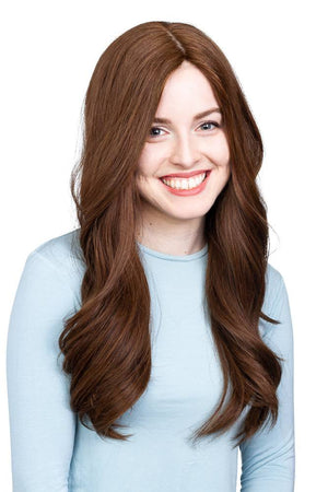 26'' Wavy Brunette Famous Maker Wig 2101/NO TAG