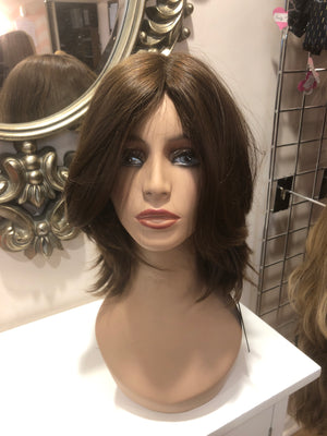 "9"" Straight Dark Brown/Light Blonde Renaissance Wig 2577/613161"