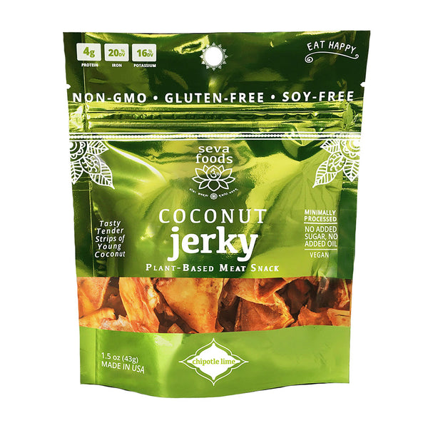 seva foods organic chipotle lime coconut jerky