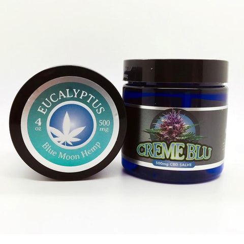 500mg Eucalyptus CBD Salve 4oz Jar - Blue Moon Hemp