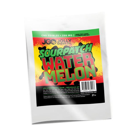 250mg CBD Sourpatch Watermelon Slices 5pcs/bag - Jolly Green Oil