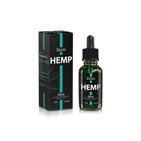 1000mg Mint CBD Tincture 30ml - ZZyzx Hemp