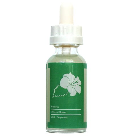 300mg Hibiscus Coconut Cream CBD Vape Juice 30ml - Green Line CBD