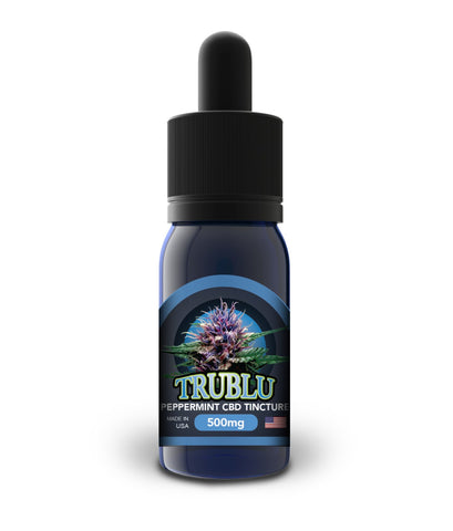 500mg TruBlu Peppermint CBD Tincture 30ml - Blue Moon Hemp
