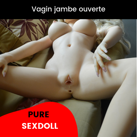 Vagin d'une SexDoll jambe ouverte