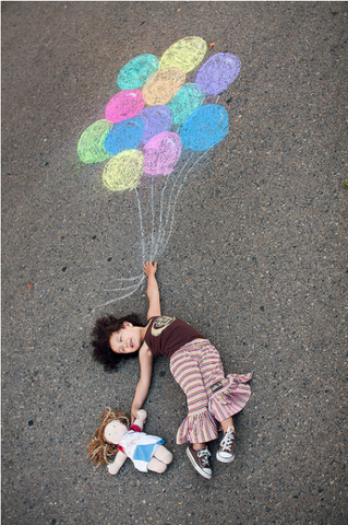 Kids outdoor activity ideas chalk art