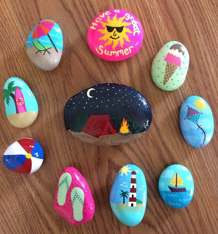 Kids socially distanced activity idea rock art