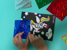 Load image into Gallery viewer, Unicorn Theme Kids Foil art Creation