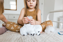 Load image into Gallery viewer, Girl stuffing Polar bear teddy