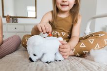 Load image into Gallery viewer, Girl making her plush polar bear