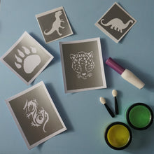 Load image into Gallery viewer, animal temporary tattoos with glitter