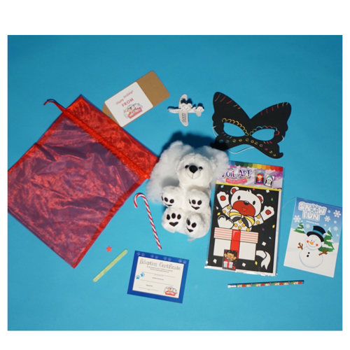 SANTA WORKSHOP CHRISTMAS make a teddy and craft kit