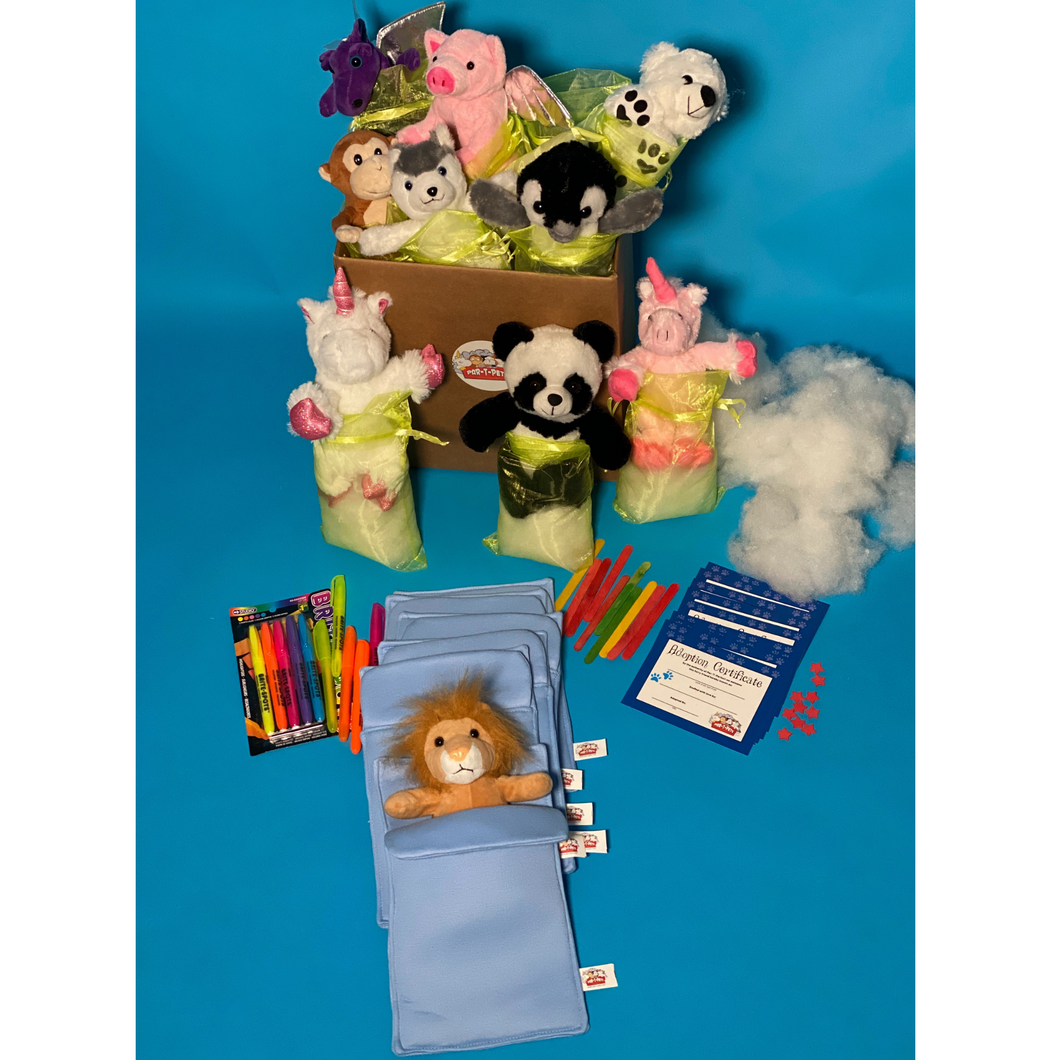 SLUMBER PARTY SOCIAL DISTANCING OR VIRTUAL PARTY FOR KIDS KITS