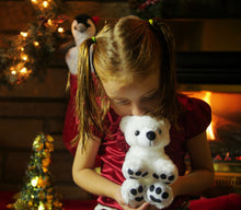 Load image into Gallery viewer, Plush Christmas Polar bear