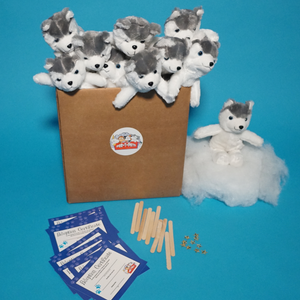 Husky Dog Plush Teddy Making Kit 10 Pack